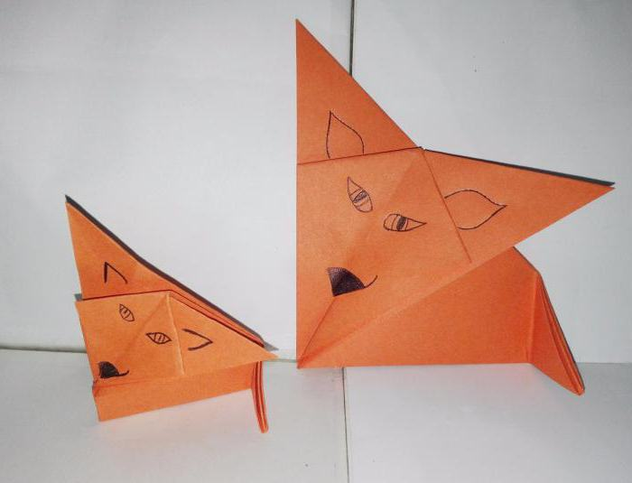 how to make paper fox